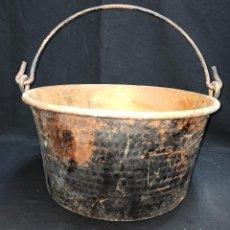 Antigüedades: GRAN CALDERO DE COBRE.. Lote 208996567