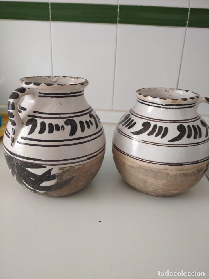 Antigüedades: Teruel , pareja de antiguos Búcaros o jarrones, perfecto estado - Foto 2 - 209001795