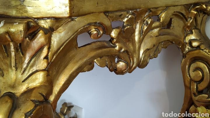 Antigüedades: Mueble antiguo. Consola dorada Isabelina. - Foto 6 - 80050653