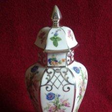 Antigüedades: JARRÓN TIBOR EN PORCELANA DE BOHEMIA. Lote 209040370
