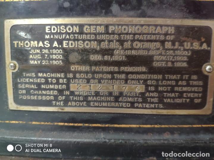Antigüedades: FONÓGRAFO EDISON MODELO GEM - XXX 140 - Foto 19 - 42978820