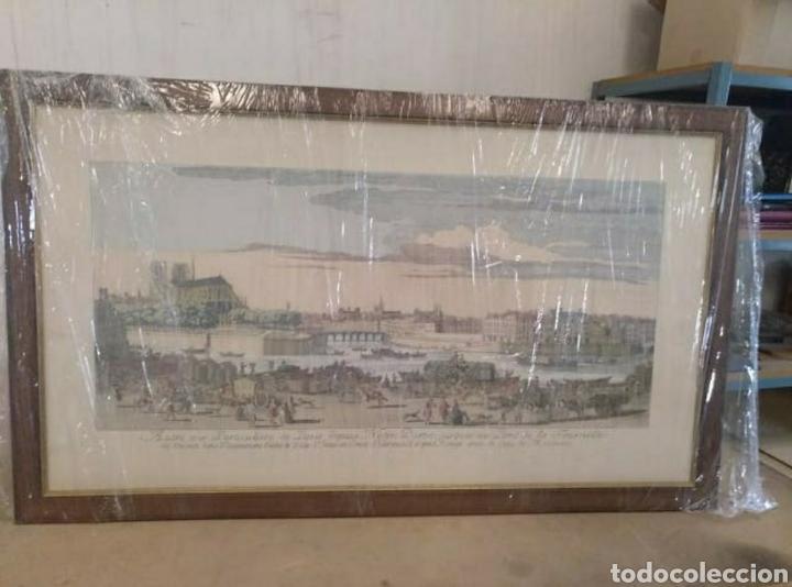 IMPRESIONANTE CUADRO PARIS (Antigüedades - Hogar y Decoración - Marcos Antiguos)