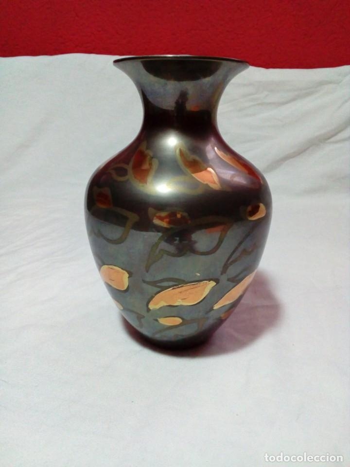 Antigüedades: JARRON DE METAL DE LA INDIA - Foto 2 - 209105295