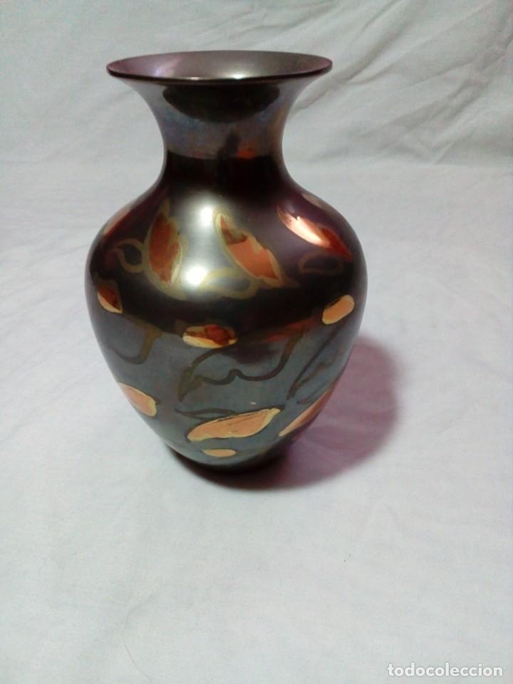 Antigüedades: JARRON DE METAL DE LA INDIA - Foto 3 - 209105295