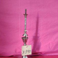 Antigüedades: CANDELABRO EN METAL PLATEADO ESTILO COLUMNA - XXX 390. Lote 43000089