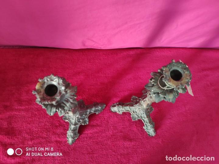 Antigüedades: PAREJA DE CANDELABROS ESTILO ROCOCÓ - XXX 389 - Foto 4 - 43000093