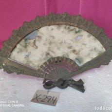 Antigüedades: ESPEJO ABANICO EN METAL DORADO - XXX 294. Lote 43016598