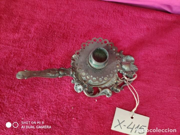 Antigüedades: PALMATORIA EN METAL PLATEADO - XXX 415 - Foto 2 - 42998063