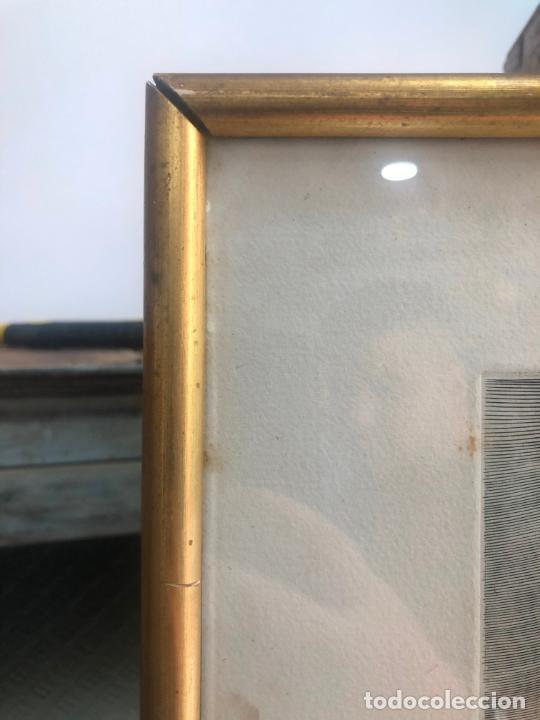 Antigüedades: PRECIOSO GRABADO PAISAJE DE PARIS - MARCO DE MADERA Y DORADO CON MEDIDAS 67X51 CM - Foto 2 - 209127975