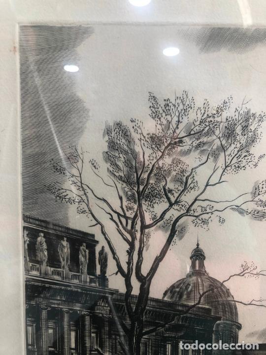 Antigüedades: PRECIOSO GRABADO PAISAJE DE PARIS - MARCO DE MADERA Y DORADO CON MEDIDAS 67X51 CM - Foto 4 - 209127975