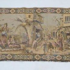 Antigüedades: ANTIGUO TAPIZ ESCENA ORIENTAL 140 X 44 CM. Lote 209144167