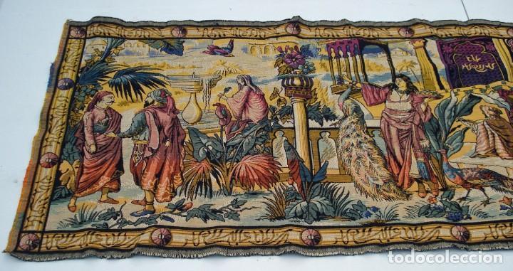 Antigüedades: ANTIGUO TAPIZ ESCENA ORIENTAL 146 x 48 CM - Foto 2 - 209149377