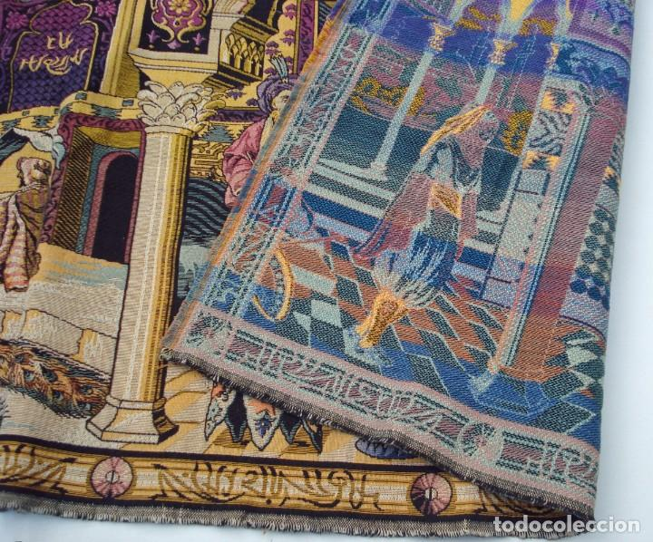 Antigüedades: ANTIGUO TAPIZ ESCENA ORIENTAL 146 x 48 CM - Foto 4 - 209149377