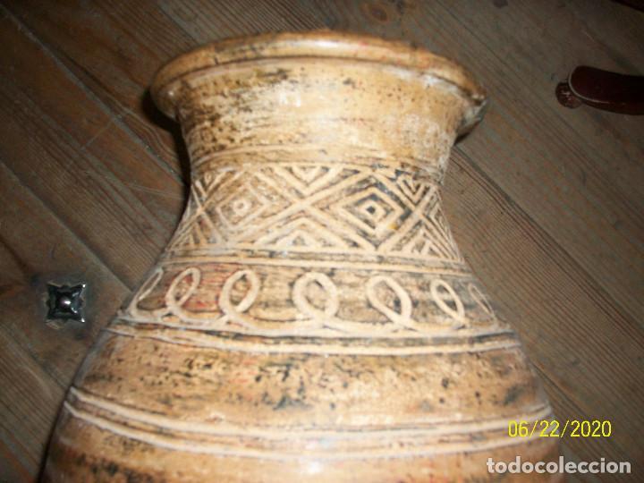 Antigüedades: ANTIGUO JARRON DE BARRO - Foto 6 - 209156670