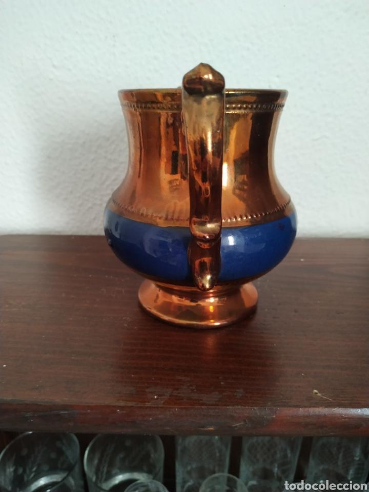 Antigüedades: Jarra de reflejos metálicos , Bristol .Siglo XIX - Foto 2 - 209157946