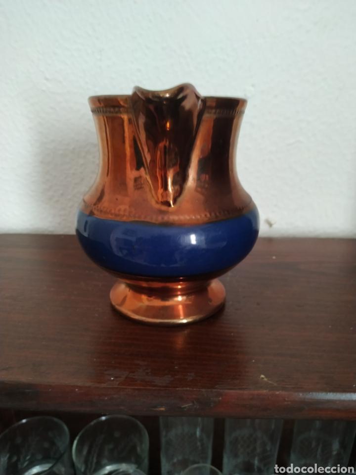 Antigüedades: Jarra de reflejos metálicos , Bristol .Siglo XIX - Foto 4 - 209157946