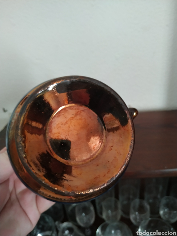 Antigüedades: Jarra de reflejos metálicos , Bristol .Siglo XIX - Foto 6 - 209157946