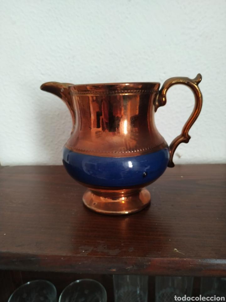 JARRA DE REFLEJOS METÁLICOS , BRISTOL .SIGLO XIX (Antigüedades - Porcelanas y Cerámicas - Inglesa, Bristol y Otros)