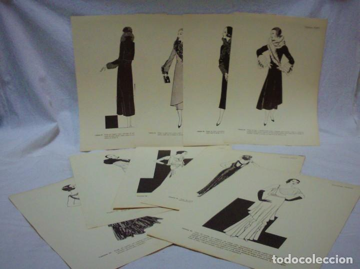 Antigüedades: EDICIONES MARTÍ.INVIERNO 1931.CARPETA CON 31 LÁMINAS,6 DESPLEGABLES CON PATRONES E INFORMATIVOS - Foto 2 - 236139915