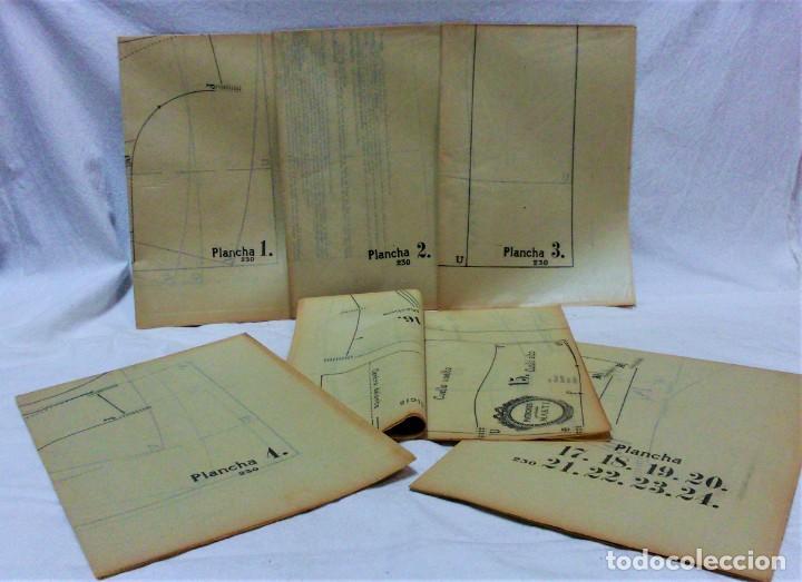 Antigüedades: EDICIONES MARTÍ.INVIERNO 1931.CARPETA CON 31 LÁMINAS,6 DESPLEGABLES CON PATRONES E INFORMATIVOS - Foto 3 - 236139915