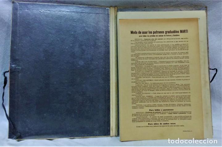 Antigüedades: EDICIONES MARTÍ.INVIERNO 1931.CARPETA CON 31 LÁMINAS,6 DESPLEGABLES CON PATRONES E INFORMATIVOS - Foto 4 - 236139915