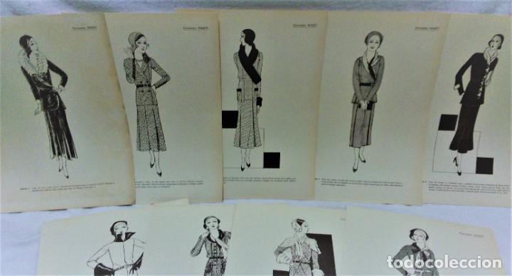 Antigüedades: EDICIONES MARTÍ.INVIERNO 1931.CARPETA CON 31 LÁMINAS,6 DESPLEGABLES CON PATRONES E INFORMATIVOS - Foto 6 - 236139915