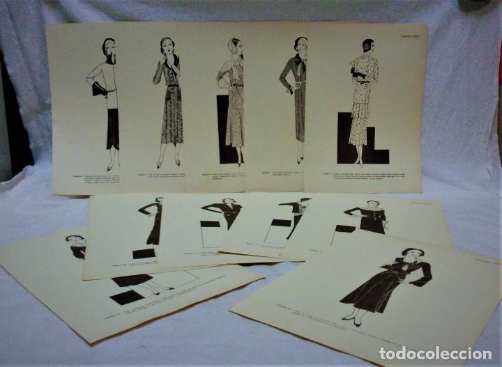 Antigüedades: EDICIONES MARTÍ.INVIERNO 1931.CARPETA CON 31 LÁMINAS,6 DESPLEGABLES CON PATRONES E INFORMATIVOS - Foto 7 - 236139915