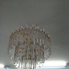 Antigüedades: LAMPARA CRISTAL AÑOS 70 9LUCES. Lote 209208483