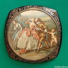 Antigüedades: POLVERA FRANCESA, TIPO BOULLE.. Lote 209265582