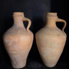 Antigüedades: CANTAROS DE MORON, DE CAGAS, CULO OMBLIGO Y CULO ANCHO. Lote 209298137