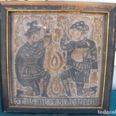 Antigüedades: SAN COSME Y SAN DAMIAN (LOS SANTOS MÉDICOS) LADRILLO SOCARRAT. Lote 209302233