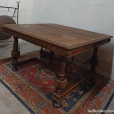 Antigüedades: ANTIGUA MESA DE NOGAL. A1. Lote 209308445