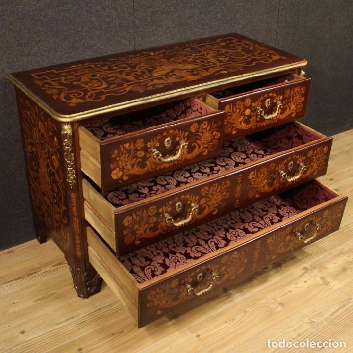 Antigüedades: Cómoda francesa en madera con incrustaciones - Foto 7 - 209312060