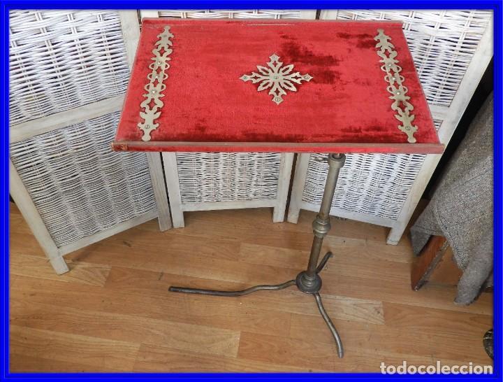 MESA O ATRIL REGULABLE EN ALTURA Y EN ANGULO, MUY ANTIGUO (Antigüedades - Muebles Antiguos - Auxiliares Antiguos)