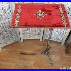 Antigüedades: MESA O ATRIL REGULABLE EN ALTURA Y EN ANGULO, MUY ANTIGUO. Lote 209312267