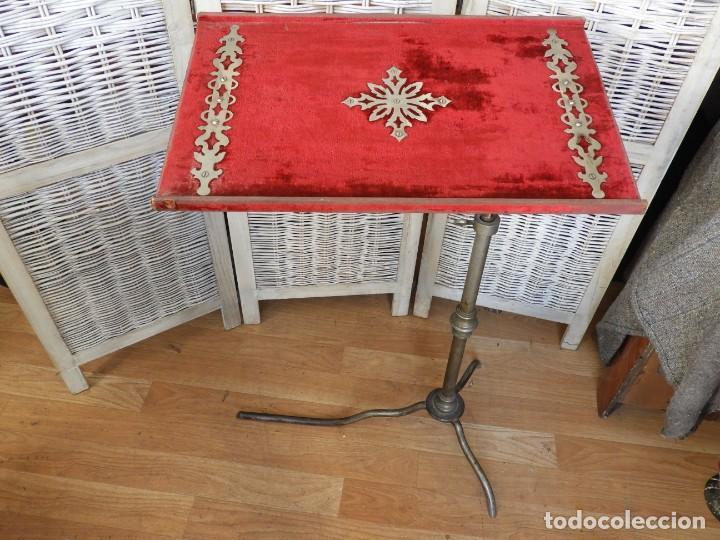 Antigüedades: MESA O ATRIL REGULABLE EN ALTURA Y EN ANGULO, MUY ANTIGUO - Foto 9 - 209312267