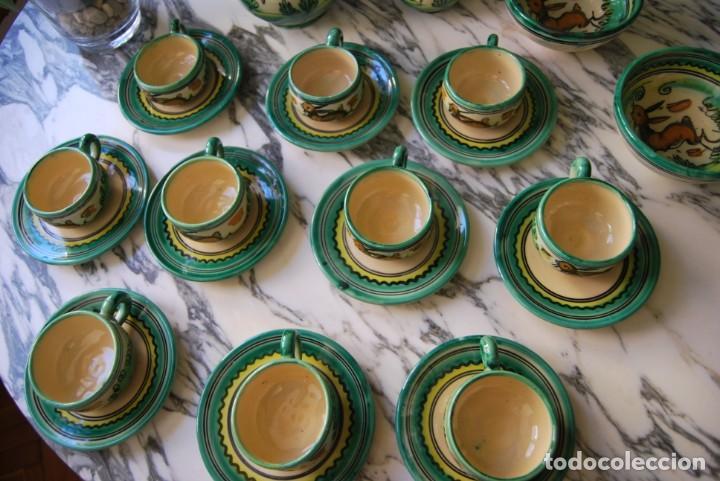 Antigüedades: JUEGO DE CAFÉ DE CERÁMICA - PUENTE DEL ARZOBISPO - HNOS. ESCOBAR - 10 SERVICIOS - AZUCARERO,CAFETERA - Foto 7 - 209315187