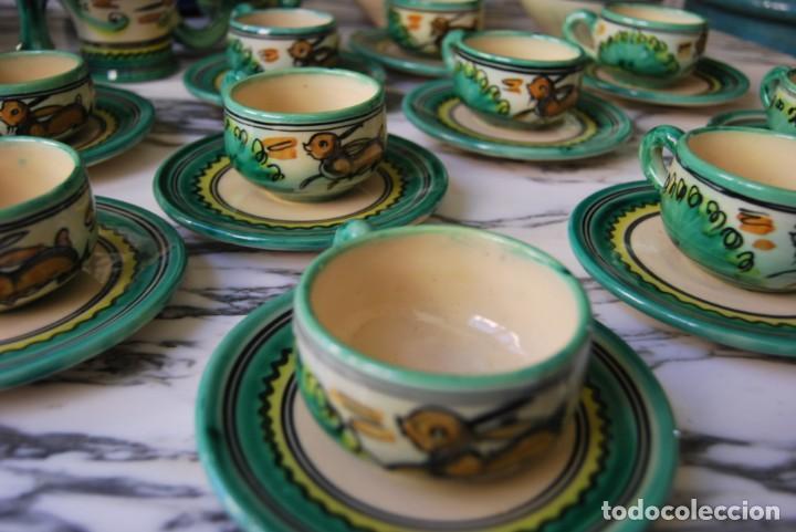 Antigüedades: JUEGO DE CAFÉ DE CERÁMICA - PUENTE DEL ARZOBISPO - HNOS. ESCOBAR - 10 SERVICIOS - AZUCARERO,CAFETERA - Foto 12 - 209315187