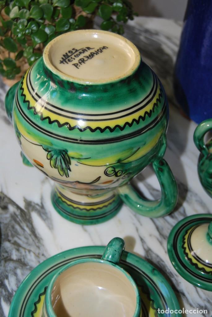 Antigüedades: JUEGO DE CAFÉ DE CERÁMICA - PUENTE DEL ARZOBISPO - HNOS. ESCOBAR - 10 SERVICIOS - AZUCARERO,CAFETERA - Foto 13 - 209315187
