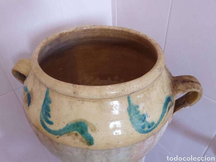 Antigüedades: ANTIGUA Y PRECIOSA ORZA VIDRIADA POR LA PARTE DE ARRIBA - Foto 2 - 209331323