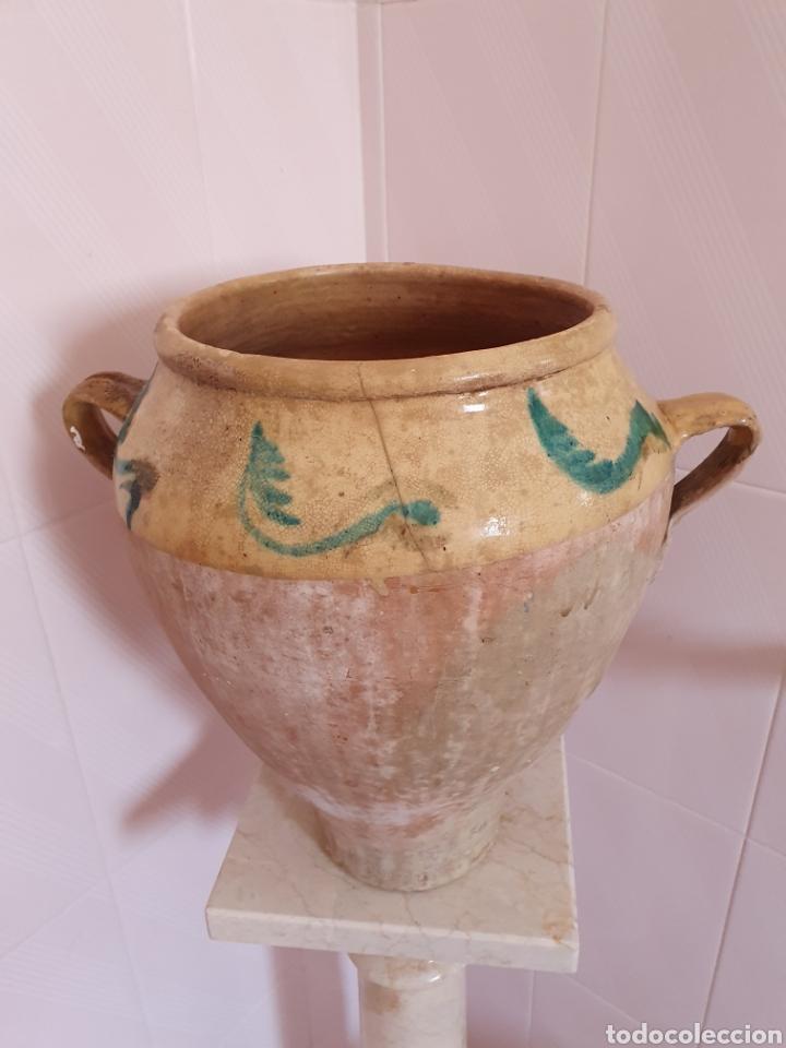 Antigüedades: ANTIGUA Y PRECIOSA ORZA VIDRIADA POR LA PARTE DE ARRIBA - Foto 3 - 209331323