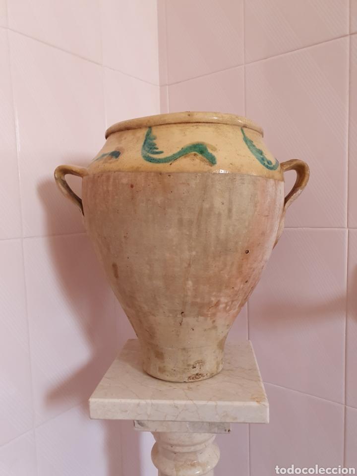 ANTIGUA Y PRECIOSA ORZA VIDRIADA POR LA PARTE DE ARRIBA (Antigüedades - Porcelanas y Cerámicas - Otras)