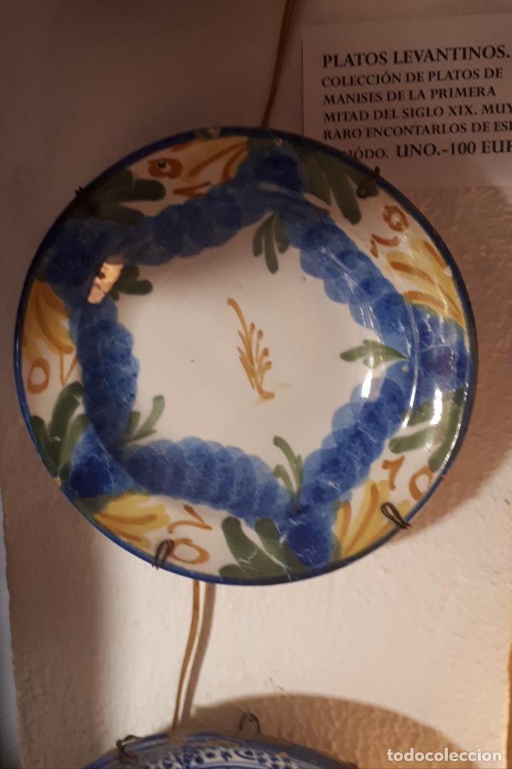 PLATO DE MANISES. SIGLO XIX. (Antigüedades - Porcelanas y Cerámicas - Manises)