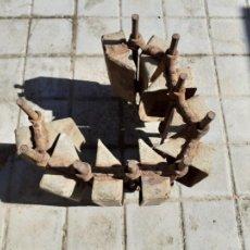 Antigüedades: CANJILÓN ARCADUZ CONJUNTO DE CONTRAMARCHA NORIA MUY ANTIGUOS // FORMATO ALARGADO ETNOGRAFÍA. Lote 209358518