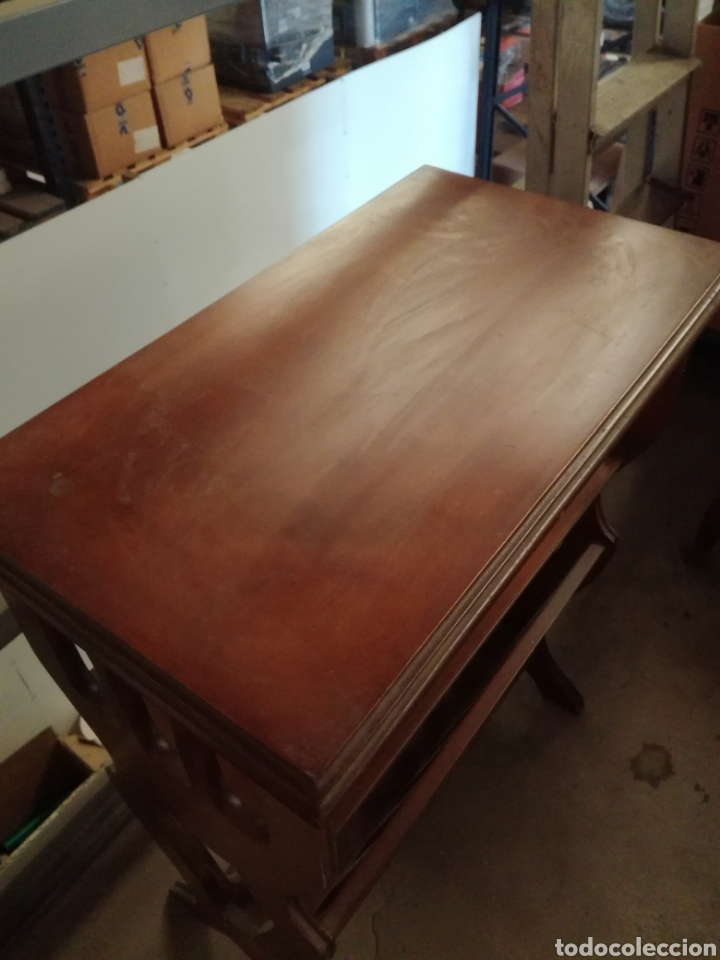 Antigüedades: Mueble auxiliar revistero - Foto 2 - 209389413