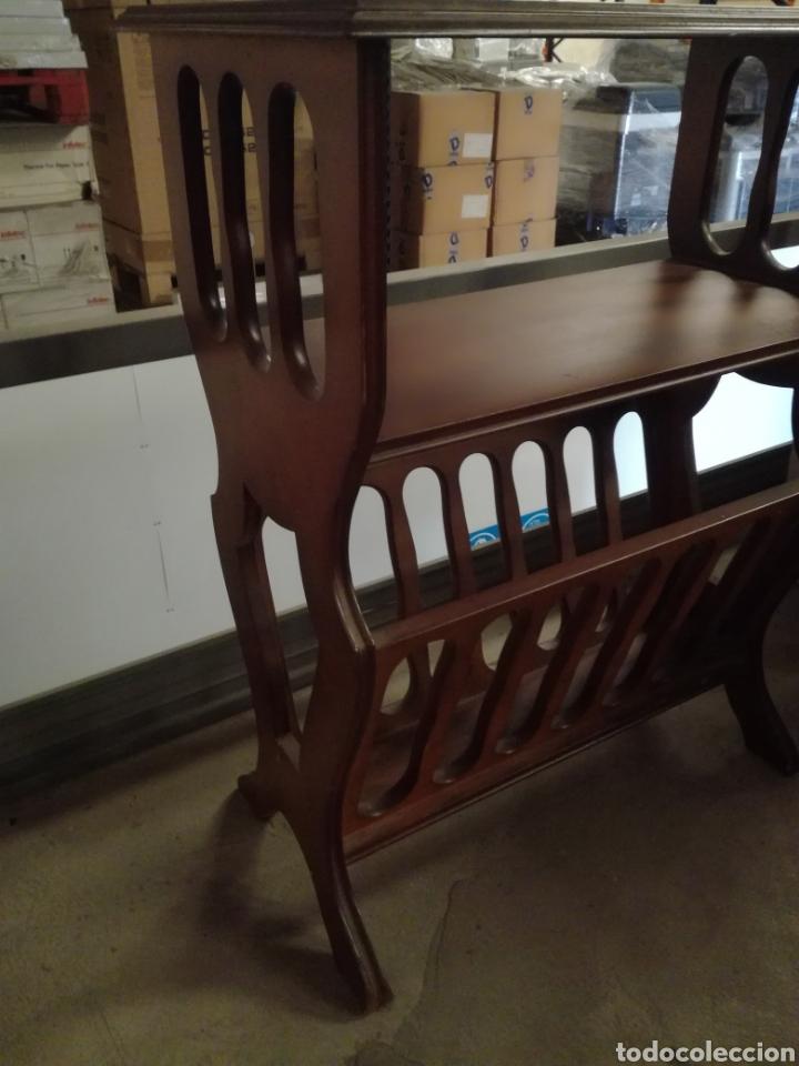 Antigüedades: Mueble auxiliar revistero - Foto 3 - 209389413