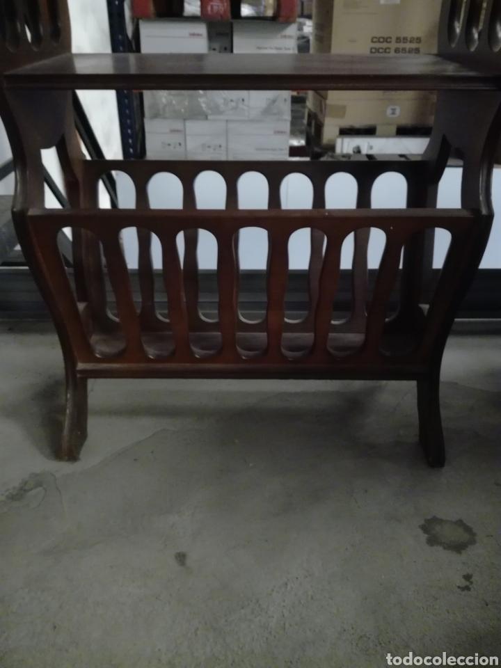 Antigüedades: Mueble auxiliar revistero - Foto 4 - 209389413