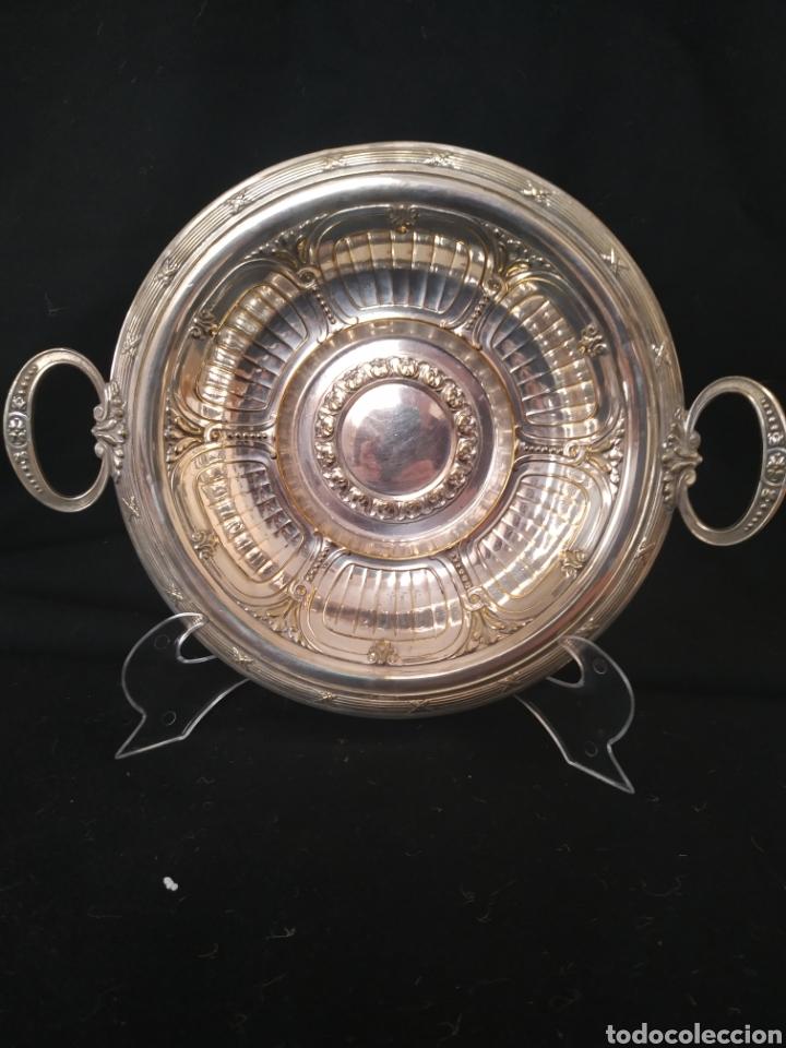 BANDEJA PLATEADA PUNZÓN MF-PLATEADO .PRIMER TERCIO SIGLO XX (Antigüedades - Platería - Bañado en Plata Antiguo)