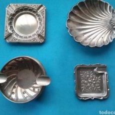 Antigüedades: LOTE DE 4 CENICEROS EN PLATA .. Lote 209416951