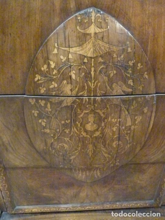 Antigüedades: COMODA ISABELINA DE NOGAL CON INCUSTRACIONES DE BOIX SIGLO XIX - Foto 5 - 209417430